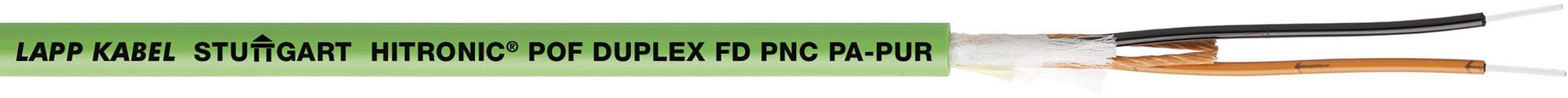 Optický kabel POF LAPP HITRONIC POF DUPLEX FD PNC PA-PUR 28351002/1000, Duplex, zelená, 1000 m
