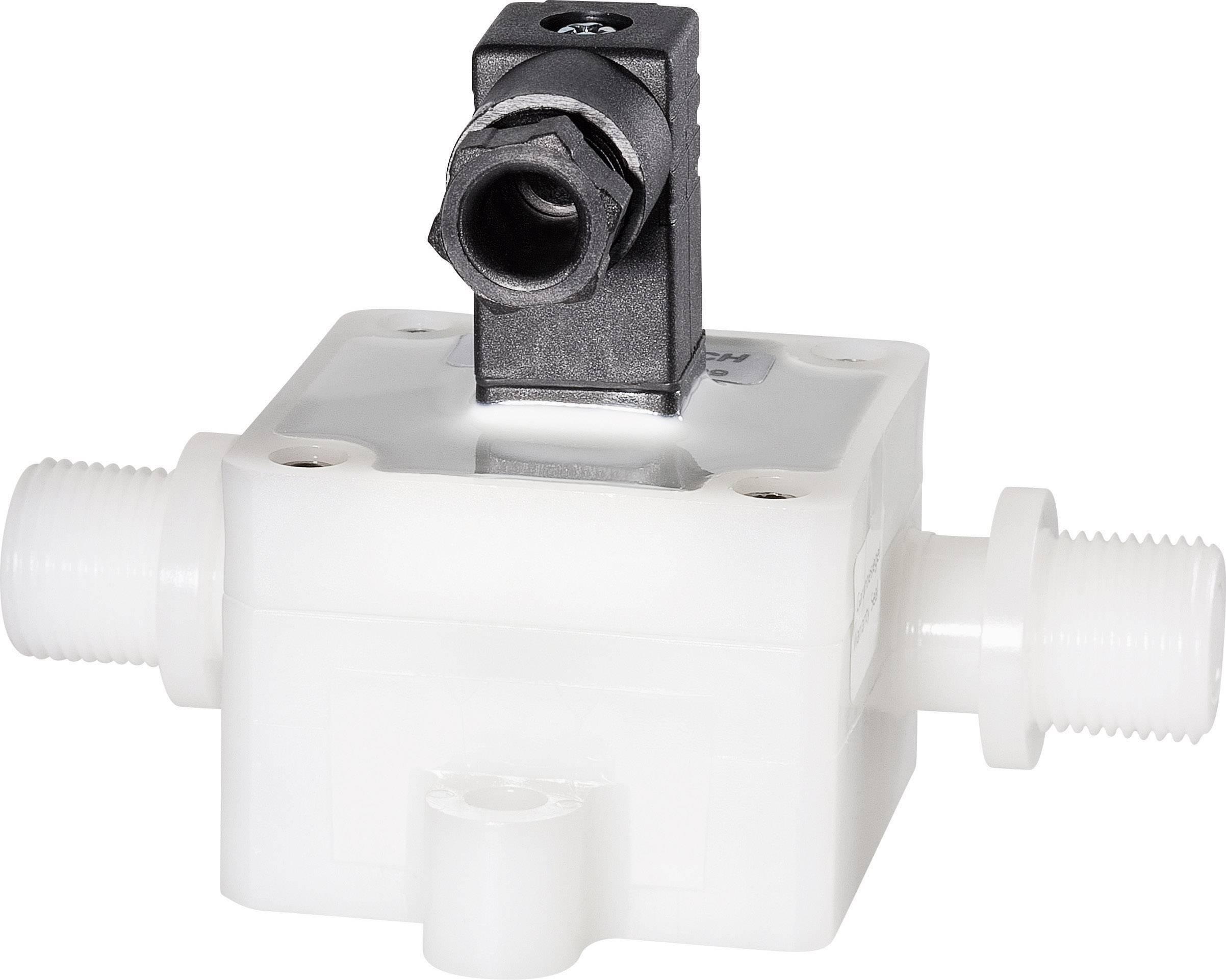 Senzor průtoku B.I.O-TECH e.K. DFM PVDF-Chemie G3/8, 4.5 - 24 V/DC, 0.5 - 16.5 l/min, (d x š x v) 97 x 73 x 63 mm