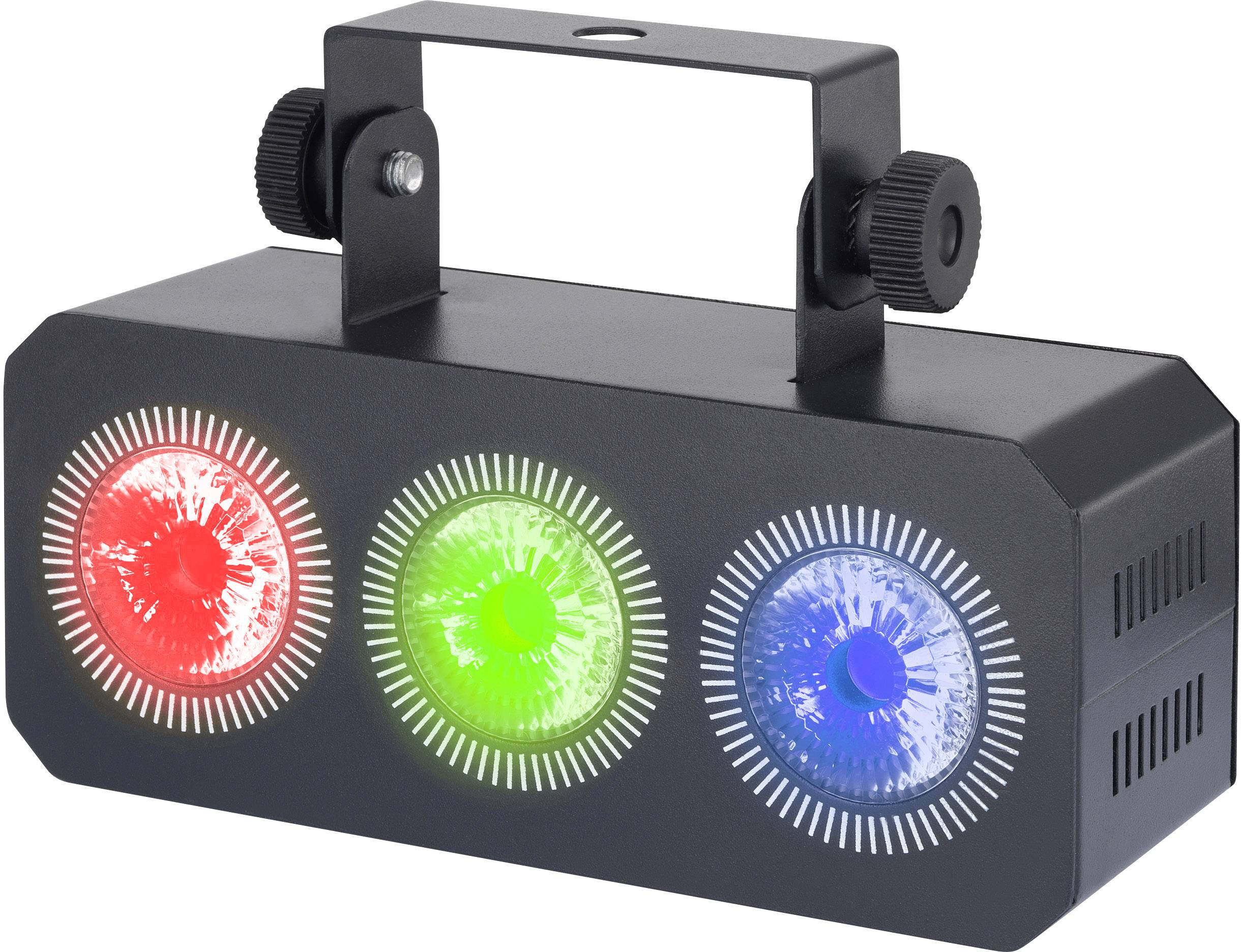 LED svetlo Renkforce Mini Party Bar RGB Wash počet LED: 3 x 3 W