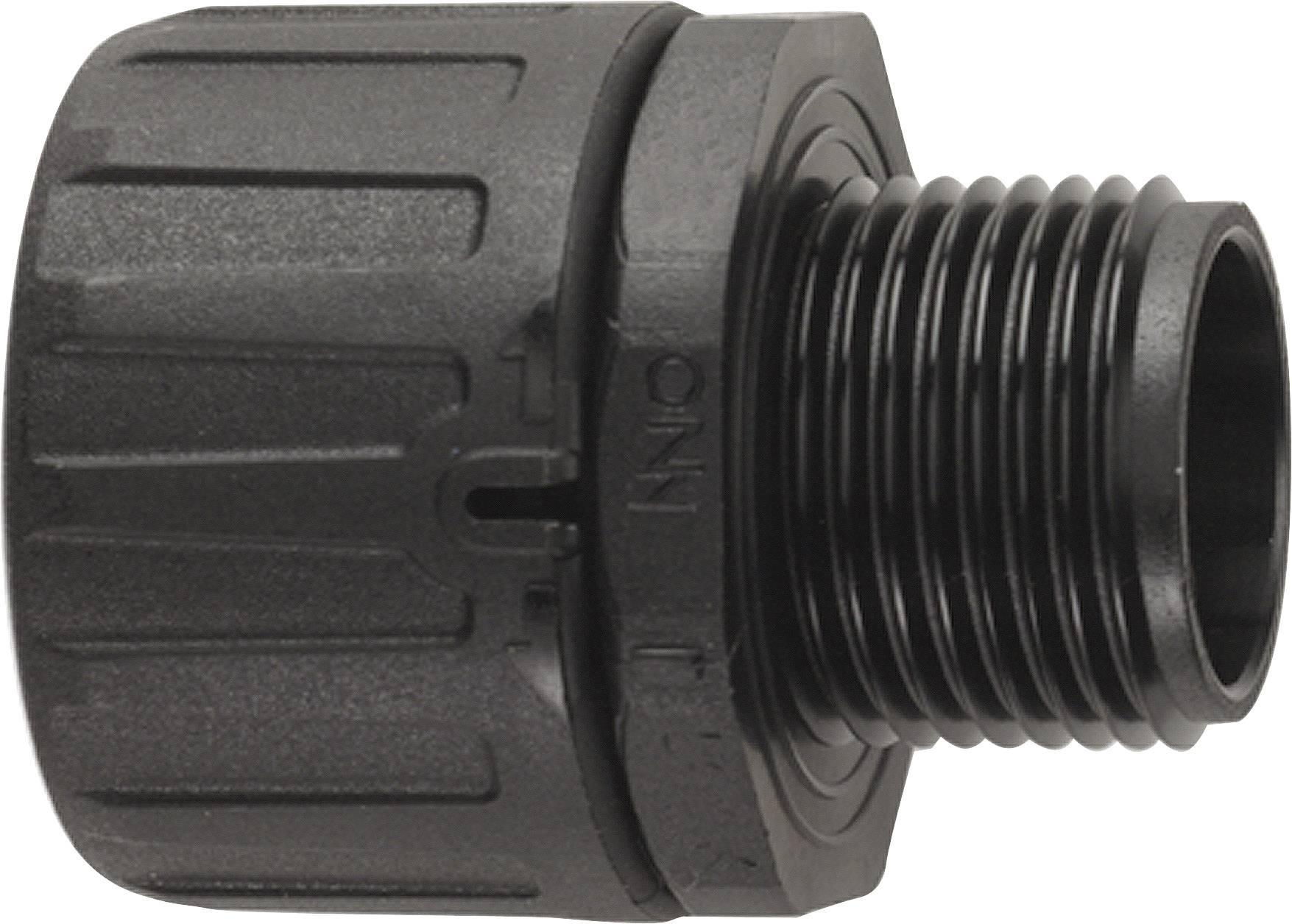 Hadicová spojka rovná LAPP SILVYN® FPAG M20x1,5/1 BK 55506335, M20, černá, 10 ks