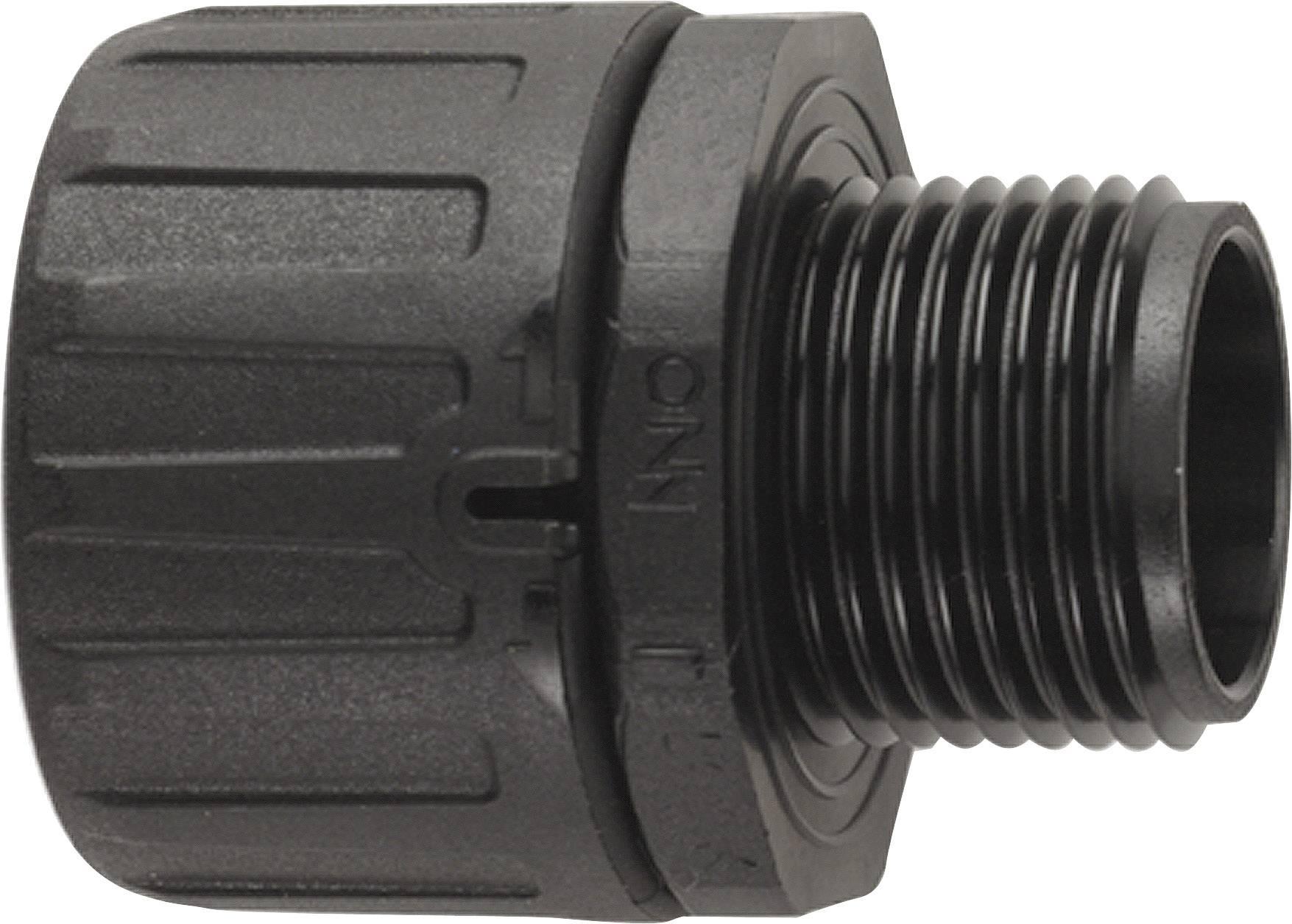 Hadicová spojka rovná LAPP SILVYN® FPAG PG 13,5/1 BK 55506635, PG13.5, čierna, 10 ks
