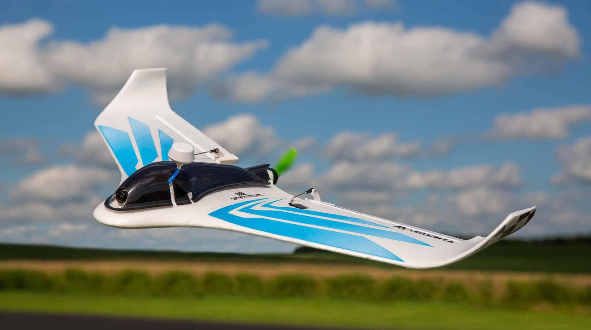 RC model motorového lietadla Blade Theory Type W FPV Ready BLH03055, rozpätie 760 mm