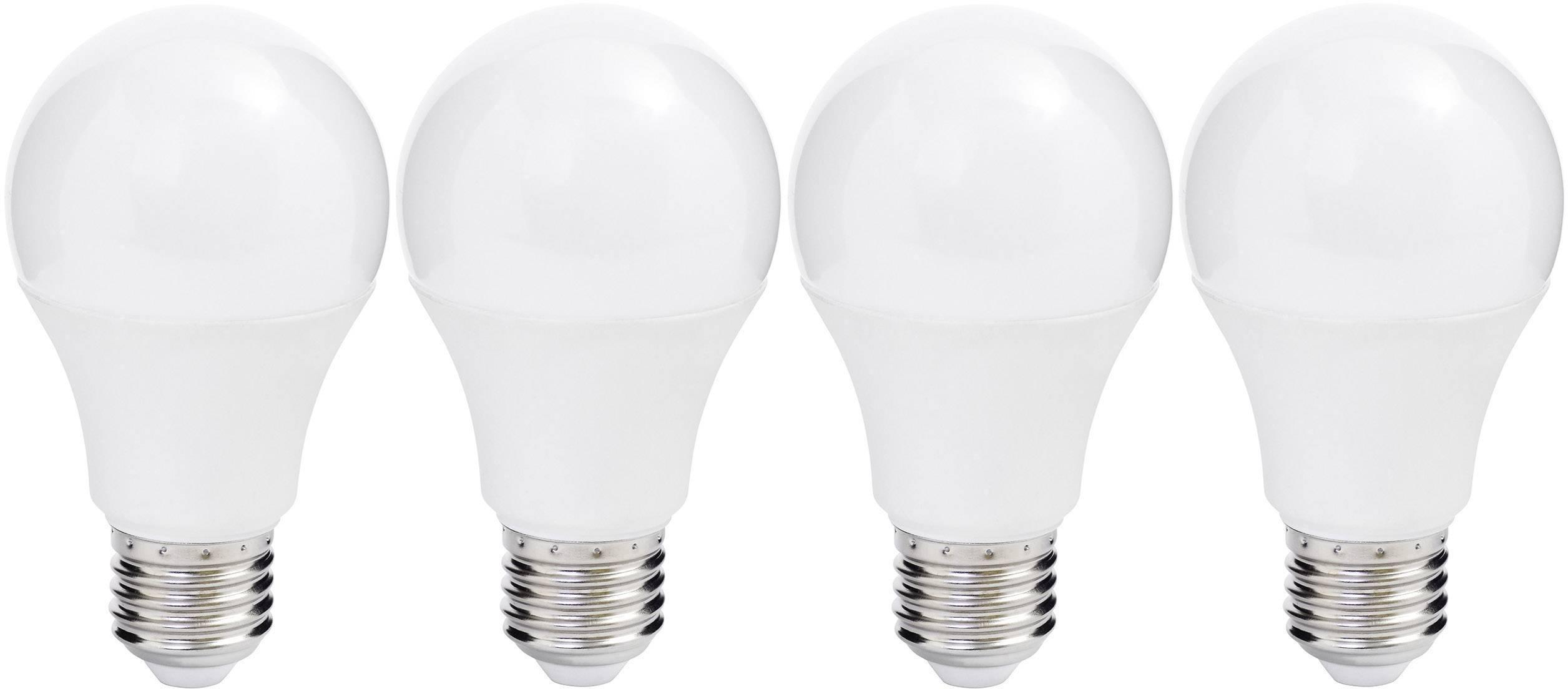 LED žárovka Müller Licht 400255 230 V, E27, 10 W = 60 W, 109 mm, teplá bílá, A+ (A++ - E), 4 ks