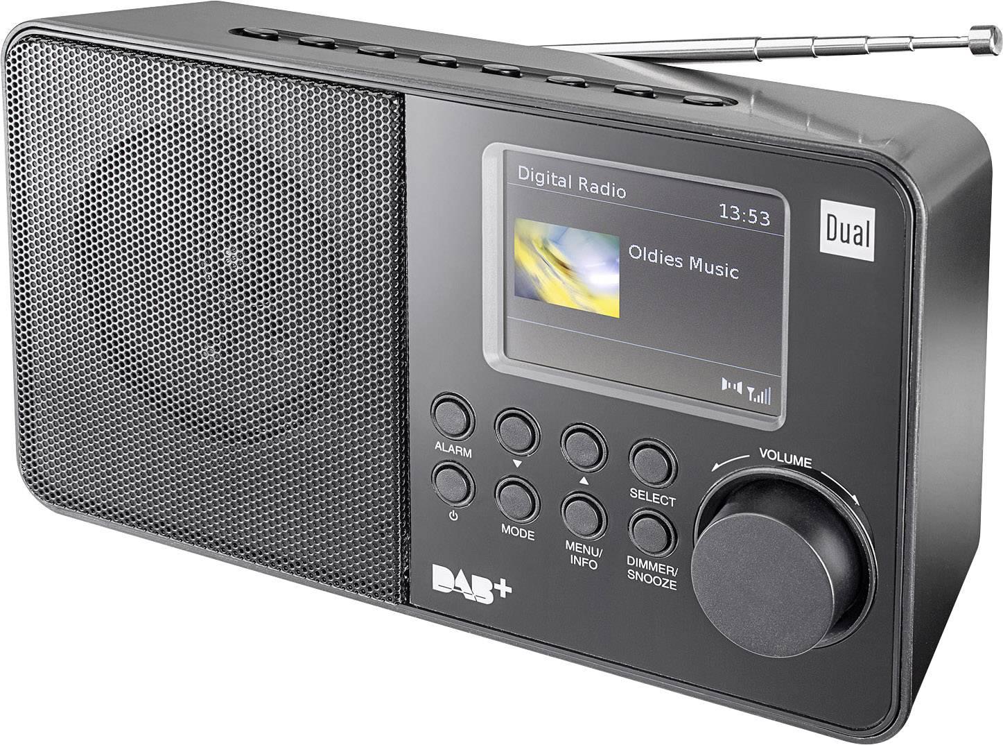 DAB+, FM prenosné rádio Dual DAB 18 C, DAB+, UKW, čierna