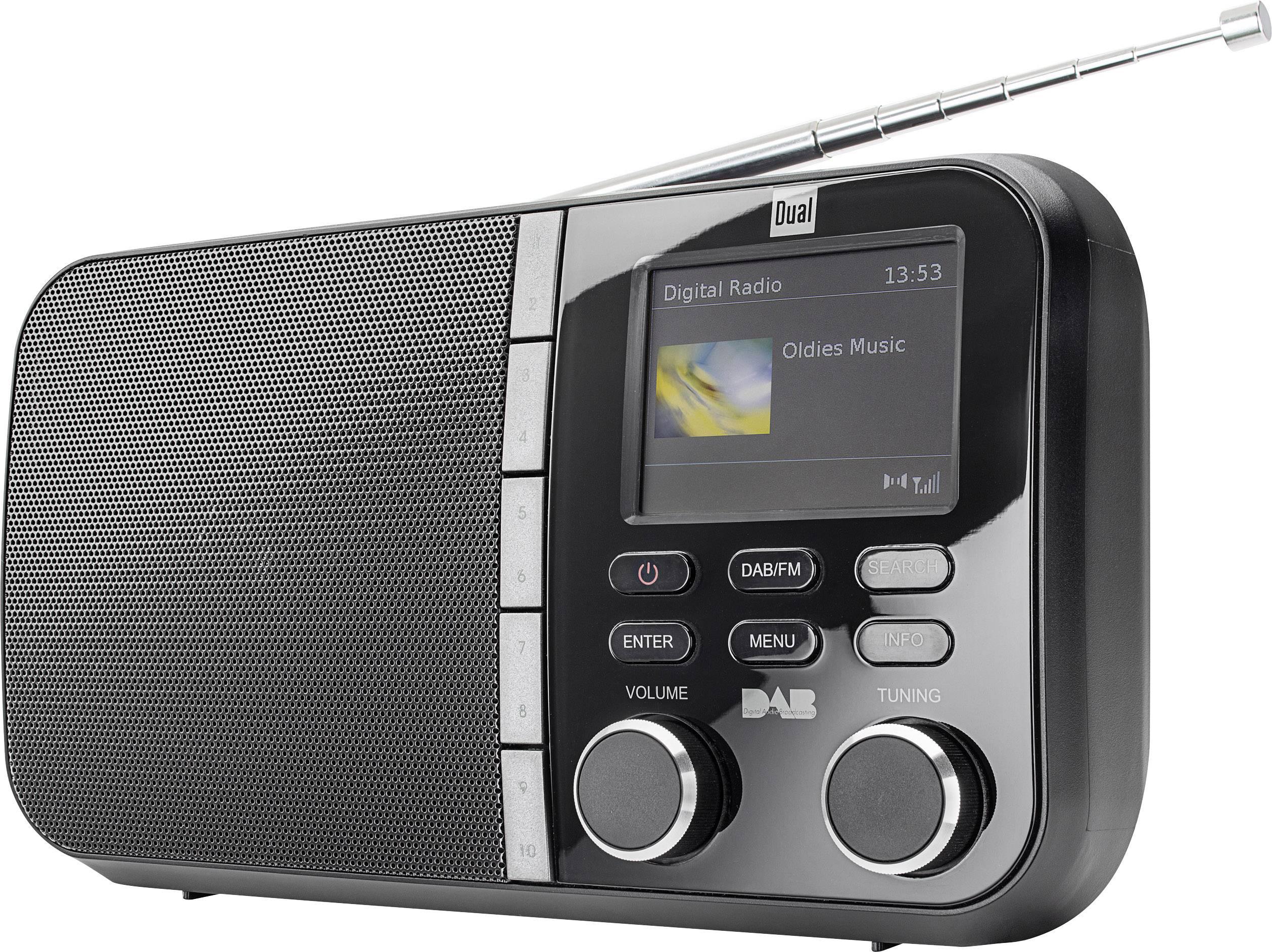 DAB+, FM prenosné rádio Dual DAB 4 C, DAB+, UKW, čierna