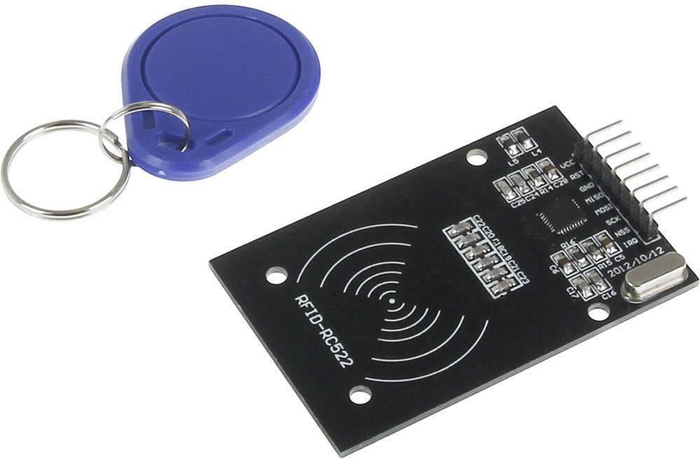Rozšiřující deska pro Raspberry Pi® Joy-it sbc-rfid-rc522, RFID Modul MFRC-522, černá, modrá