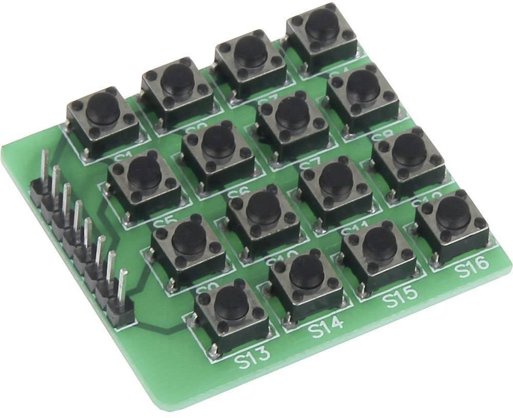 Rozšiřující deska pro Raspberry Pi® Joy-it sbc-buttonmatrix, tlačítková matice (16 tlačítek), zelená