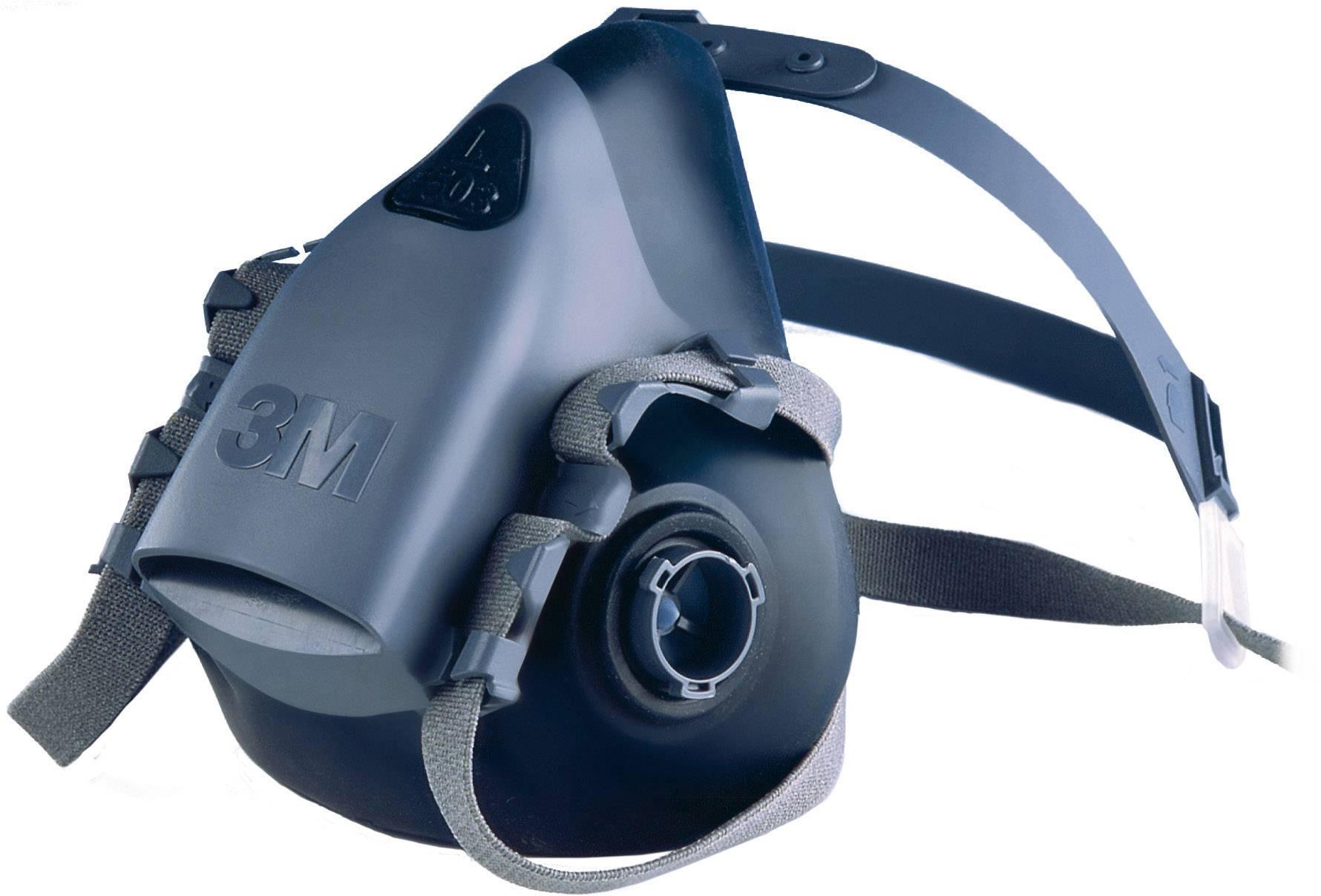 Ochranná maska poloobličejová 3M 7502 7000104177, bez filtru, vel. M