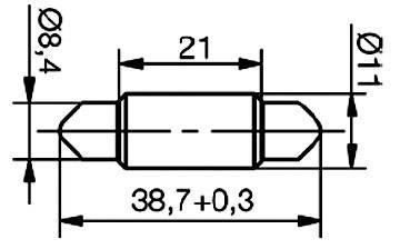 SufitováLEDžiarovka Signal Construct MSOG113914, S8, 24 V/DC, 24 V/AC, 220 mcd, žltá