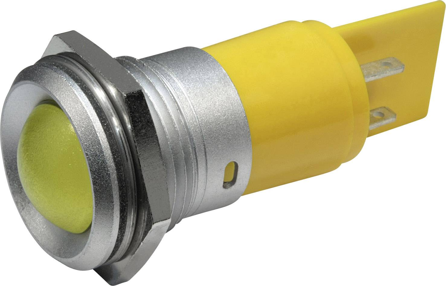 LED signálka IP67, 22 mm, 230 VAC, bílá