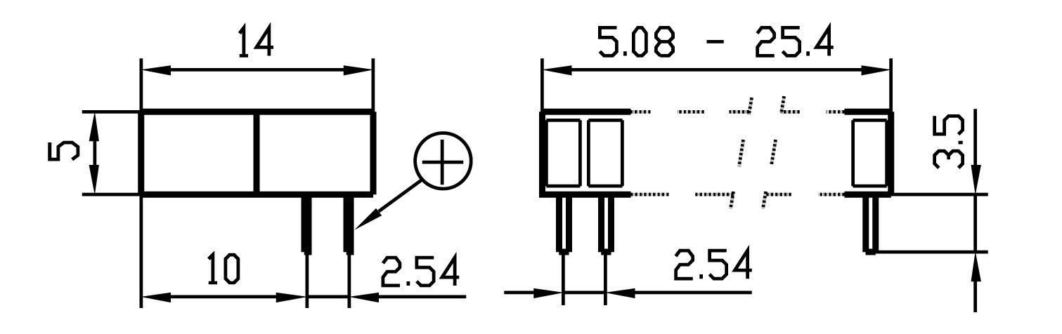 LEDséria Signal Construct ZAEW1032 (d x š x v) 25.4 x 14 x 5 mm, zelená