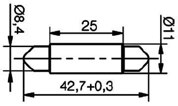 SufitováLEDžiarovka Signal Construct MSOC114342, S8.5, 12 V/DC, 12 V/AC, 140 mcd, modrá