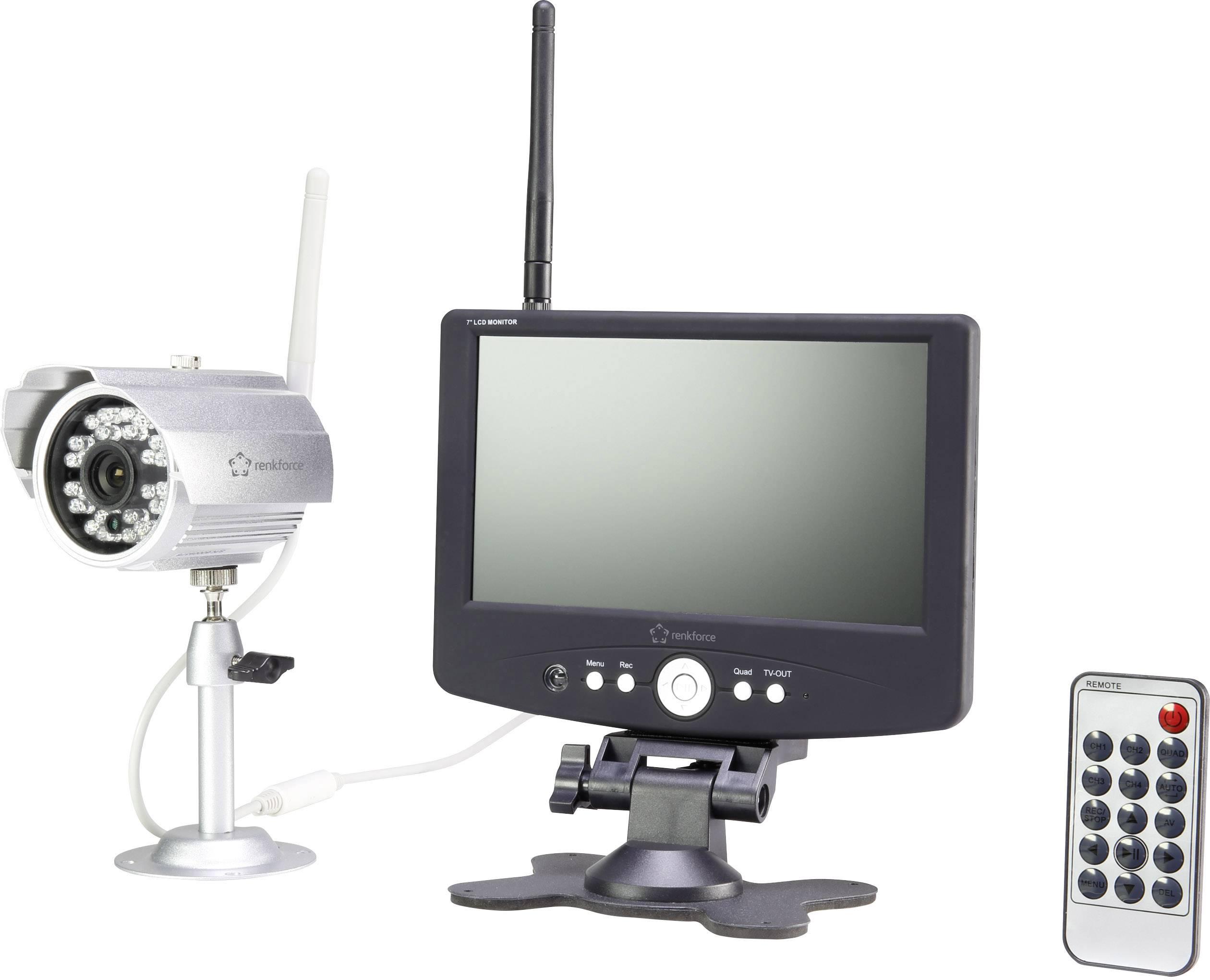 Sada bezpečnostnej kamery Renkforce 4-kanálový, max. dosah 200 m