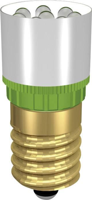 LEDžiarovka Signal Construct MCRE148374, E14, 24 V/DC, 24 V/AC, 37000 mcd, MCRE 148 374, ultra zelená
