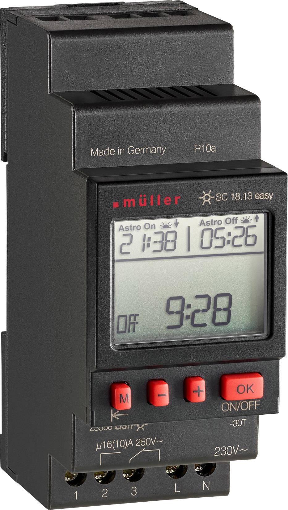 Časovač na DIN lištu Müller SC 18.13 easy NFC, 230 V, 16 A/250 V