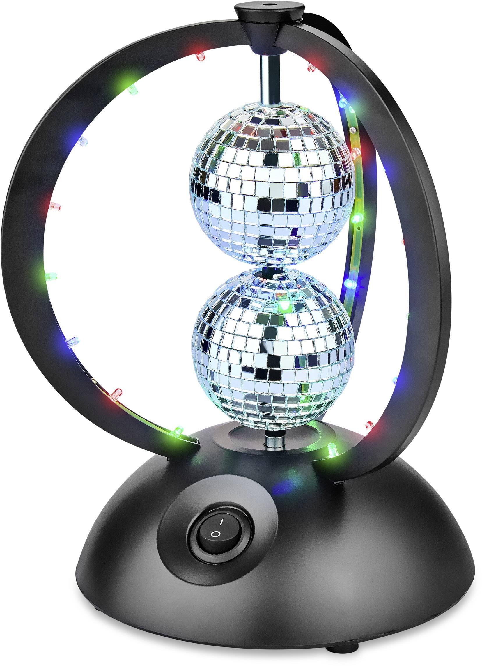 LED Disco koule, sada s hnacím motorkem Renkforce LED double, Ø 65 mm
