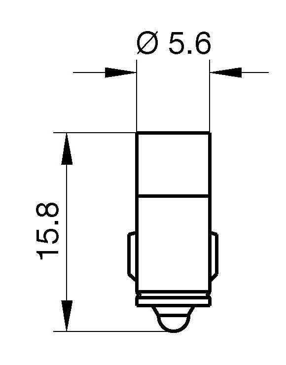 LEDžiarovka Signal Construct MWTG5704, MG 5.7, 24 V/DC, 24 V/AC, červená