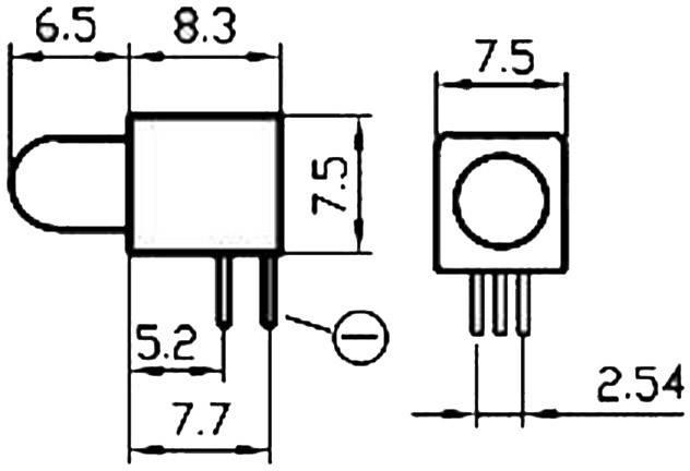 LEDmodul Signal Construct DWNE50122 (š x v x h) 7 x 7.5 x 8.3 mm, červená, zelená