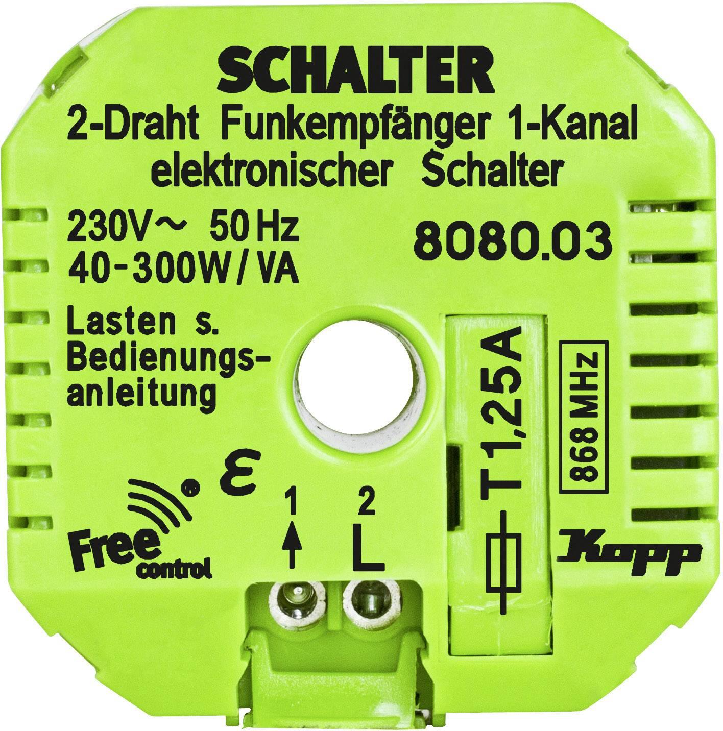 Bezdrôtový prijímač Kopp Free Control 808003328, 1-kanálový