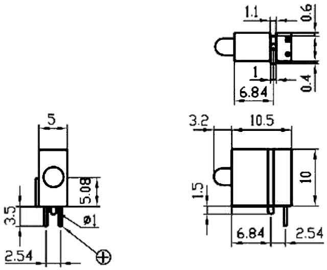 LED Signal Construct DVCD11, 6 x 10 x 10 mm, žlutá