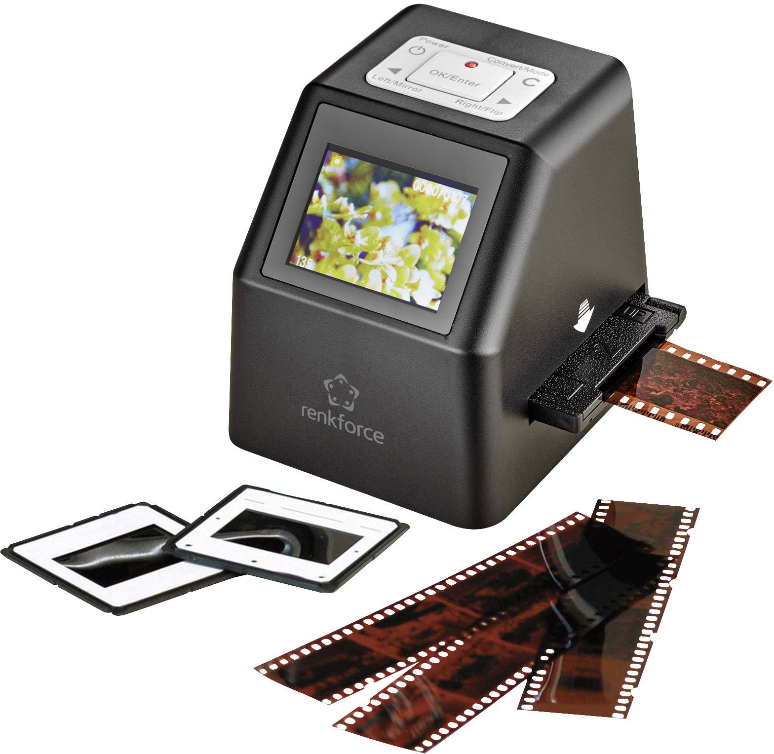Skener diapozitívov, skener negatívov Renkforce DS100-5M, N/A