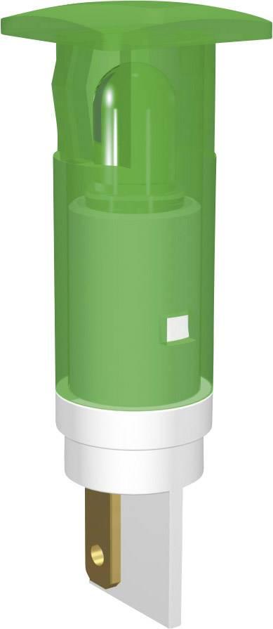 LED signálka Signal Construct SKHU10722, 12-14 V DC/AC, čtvercová, zelená