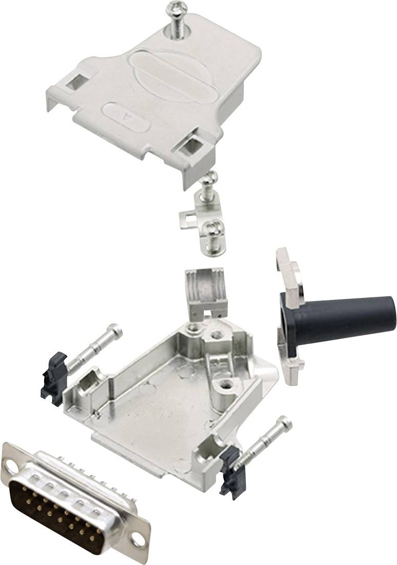 Sada D-SUB kolíkové lišty encitech D45ZF15-DBP-K, 45 °, pólů 15, pájecí kalíšek, 1 sada