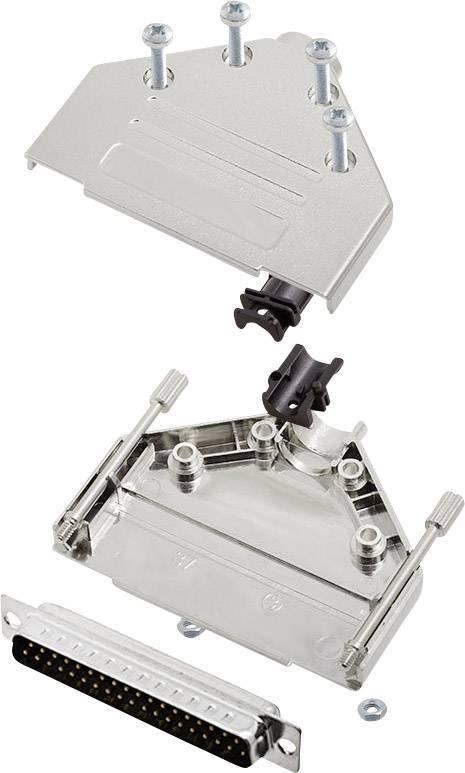 Sada D-SUB kolíkové lišty encitech DTPK-M-37-DBP-K, 180 °, pólů 37, pájecí kalíšek, 1 sada
