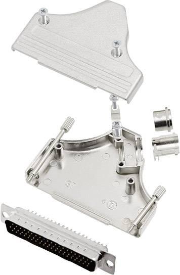Sada D-SUB kolíkové lišty encitech MHDM35-37-HDP62-K, 45 °, pólů 62, pájecí kalíšek, 1 sada