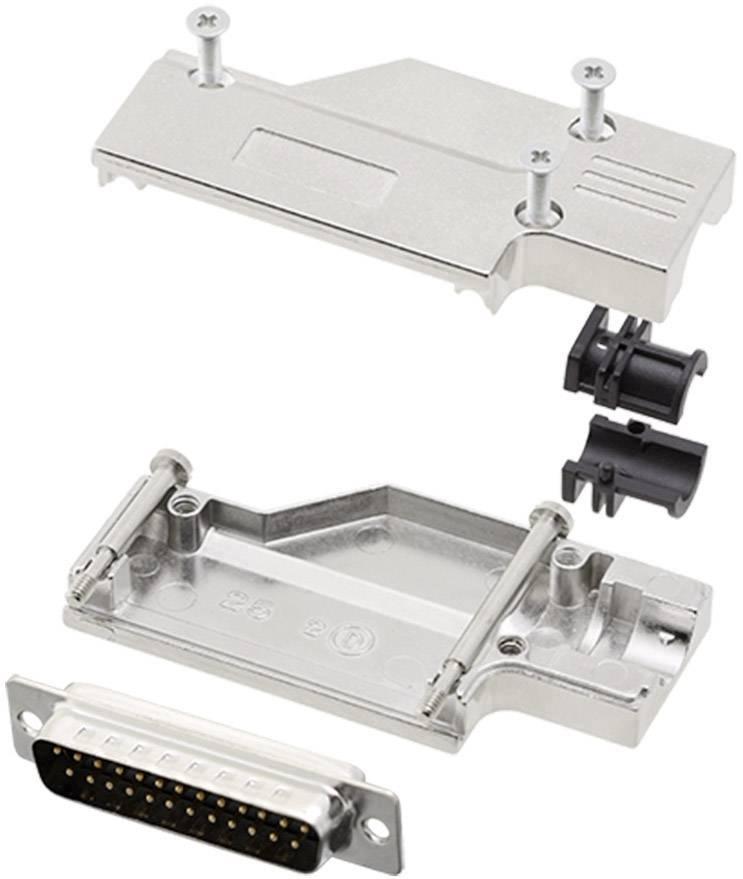 Sada D-SUB kolíkové lišty encitech DCMR-FK-25-DBP-K, 90 °, pólů 25, pájecí kalíšek, 1 sada