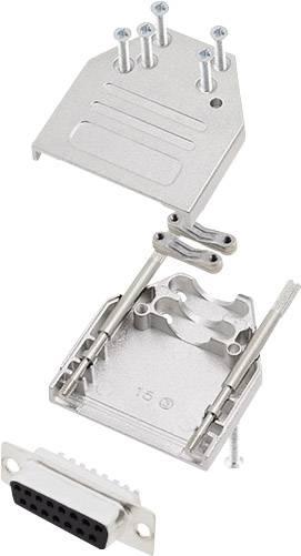 Sada D-SUB zásuvková lišta encitech DTZI15-DBS-K, 180 °, pólů 15, pájecí kalíšek, 1 sada