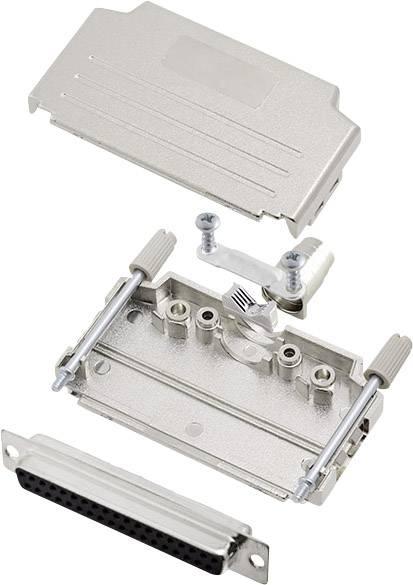 Sada D-SUB zásuvková lišta encitech DPPK37-M-DBS-K, 180 °, pólů 37, pájecí kalíšek, 1 sada