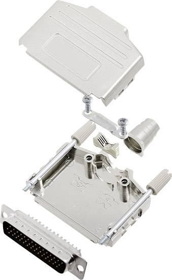 Sada D-SUB kolíkové lišty encitech DPPK25-M-HDP44-K, 180 °, pólů 44, pájecí kalíšek, 1 sada