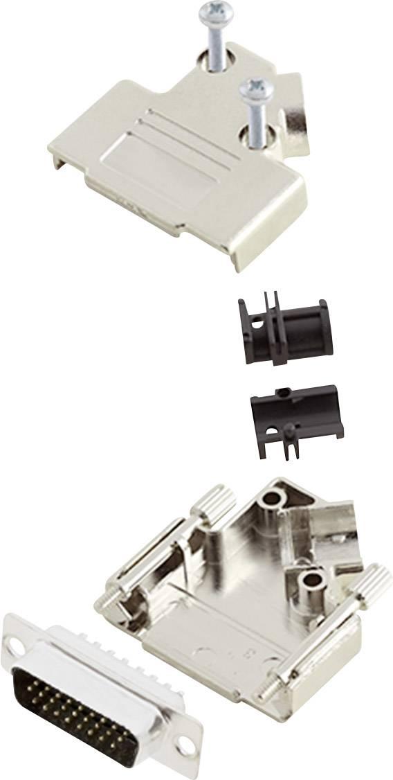 Sada D-SUB kolíkové lišty encitech D45PK-M-15-HDP26-K, 45 °, pólů 26, pájecí kalíšek, 1 sada