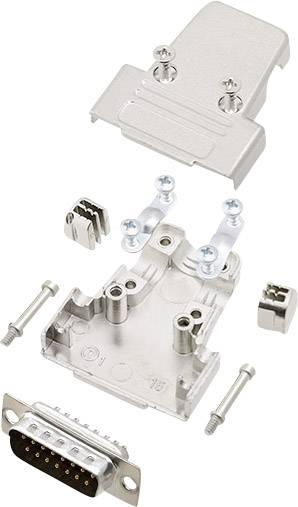 Sada D-SUB kolíkové lišty encitech TRI-M-15-DBP-K, 180 °, pólů 15, pájecí kalíšek, 1 sada