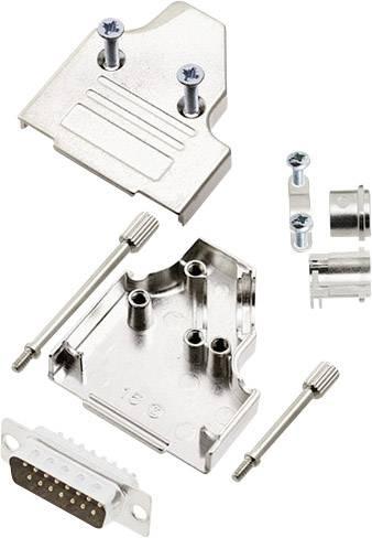 Sada D-SUB kolíkové lišty encitech MHDM35-15-DMP-K, 45 °, pólů 15, pájecí kalíšek, 1 sada