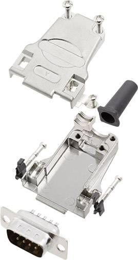 Sada D-SUB kolíkové lišty encitech DTZF09-DMP-K, 180 °, pólů 9, pájecí kalíšek, 1 sada