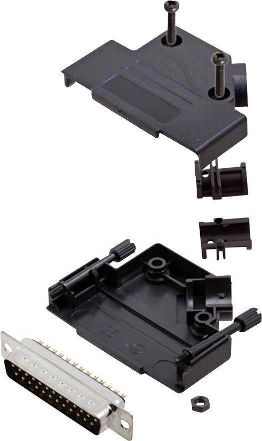 Sada D-SUB kolíkové lišty encitech D45PK-P-25-DBP-K, 45 °, pólů 25, pájecí kalíšek, 1 sada
