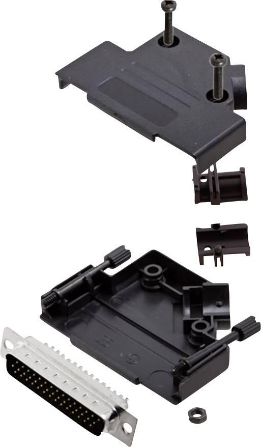 Sada D-SUB kolíkové lišty encitech D45PK-P-25-HDP44-K, 45 °, pólů 44, pájecí kalíšek, 1 sada