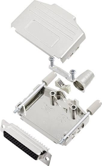 Sada D-SUB zásuvková lišta encitech DPPK25-M-HDS44-K, 180 °, pólů 44, pájecí kalíšek, 1 sada