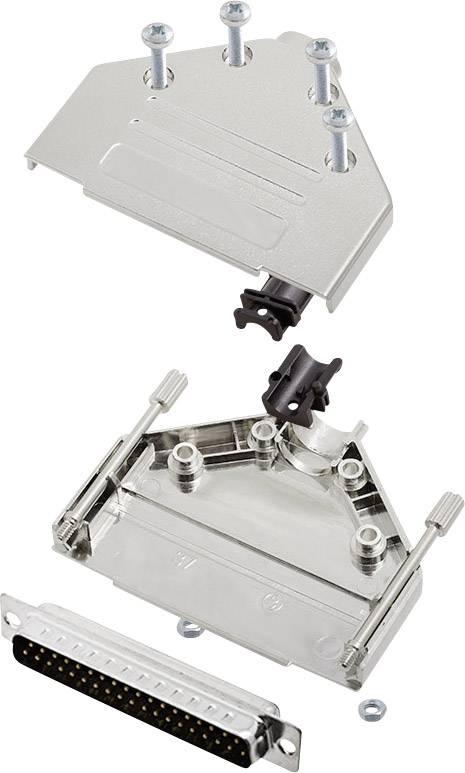 Sada D-SUB kolíkové lišty encitech DTPK-M-37-DMP-K, 180 °, pólů 37, pájecí kalíšek, 1 sada