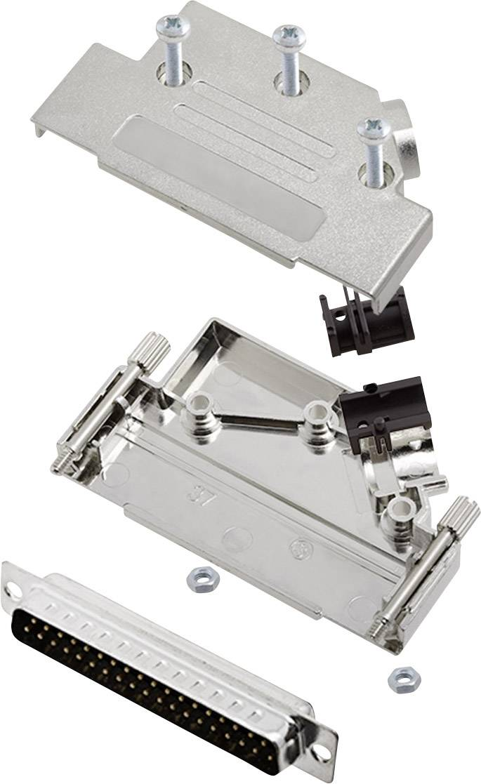 Sada D-SUB kolíkové lišty encitech D45PK-M-37-DMP-K, 45 °, pólů 37, pájecí kalíšek, 1 sada