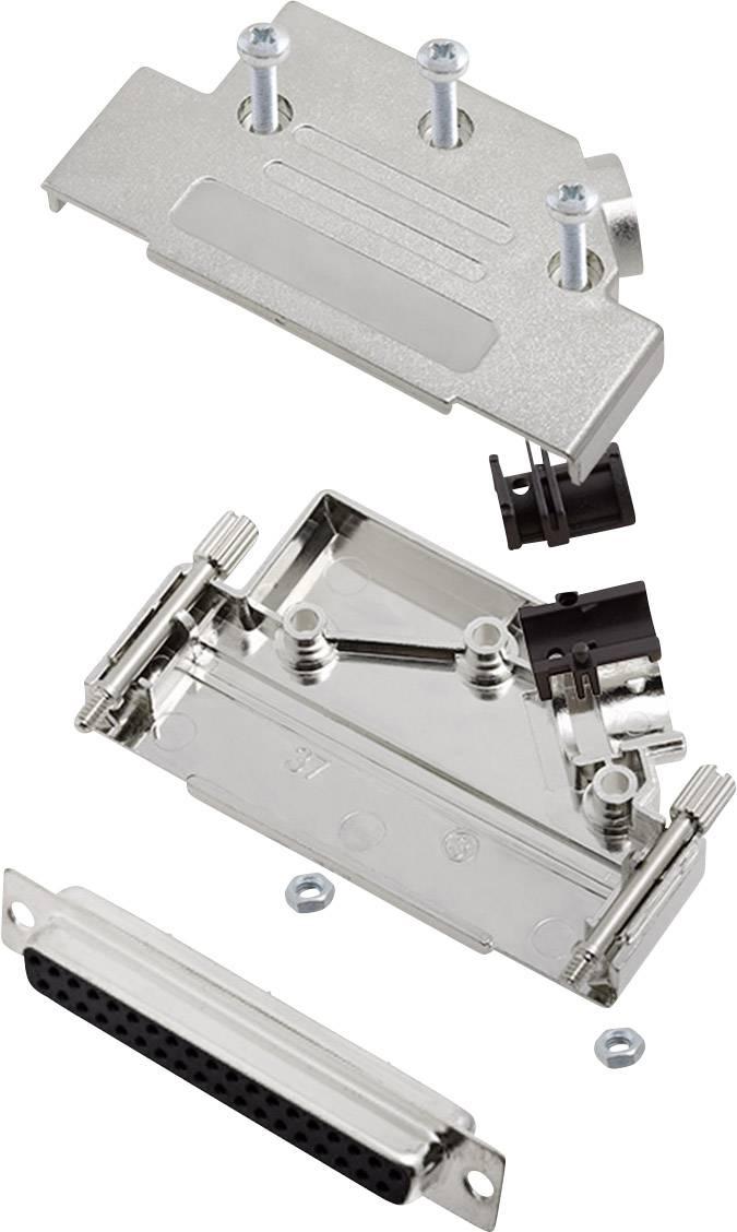Sada D-SUB zásuvková lišta encitech D45PK-M-37-DBS-K, 45 °, pólů 37, pájecí kalíšek, 1 sada
