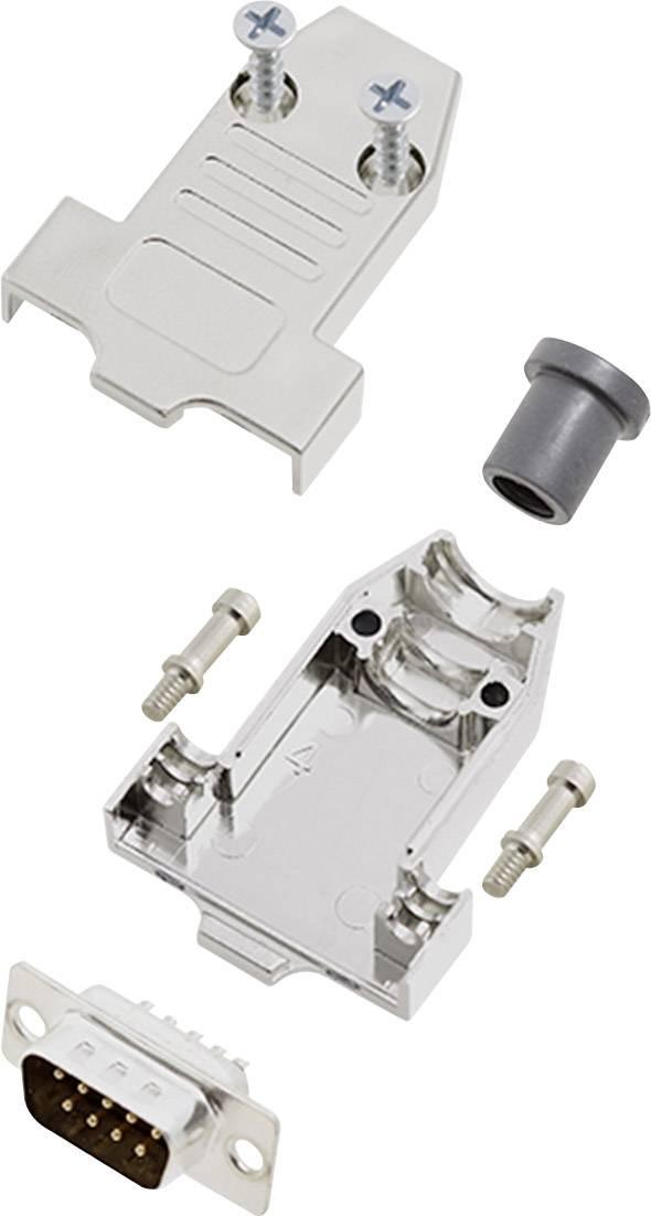 Sada D-SUB kolíkové lišty encitech DTNT09-M-DMP-K, 180 °, pólů 9, pájecí kalíšek, 1 sada