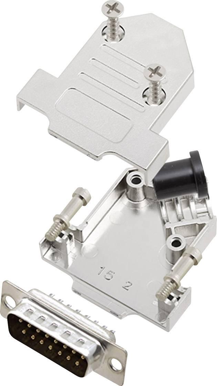 Sada D-SUB kolíkové lišty encitech D45NT15-M-DBP-K, 45 °, pólů 15, pájecí kalíšek, 1 sada