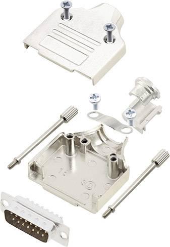 Sada D-SUB kolíkové lišty encitech MHDM-15-DBP-K, 180 °, pólů 15, pájecí kalíšek, 1 sada