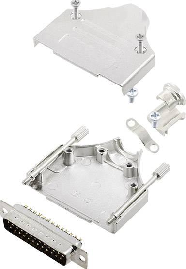 Sada D-SUB kolíkové lišty encitech MHDM-25-DBP-K, 180 °, pólů 25, pájecí kalíšek, 1 sada
