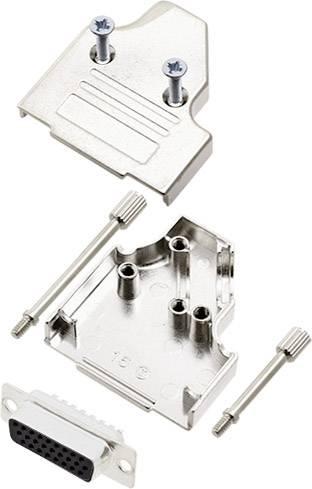 Sada D-SUB zásuvková lišta encitech MHDM35-09-DMS15-K, 180 °, pólů 15, pájecí kalíšek, 1 sada