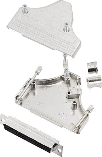 Sada D-SUB zásuvková lišta encitech MHDM35-37-HDS62-K, 180 °, pólů 62, pájecí kalíšek, 1 sada