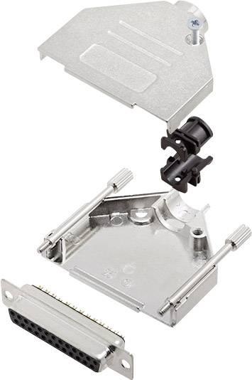 Sada D-SUB zásuvková lišta encitech DTZK25-DBS-K, 180 °, pólů 25, pájecí kalíšek, 1 sada